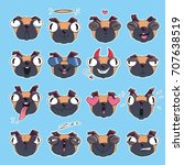 vector stickers collection of... | Shutterstock .eps vector #707638519