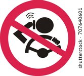 forbidden to call while driving.... | Shutterstock .eps vector #707640601