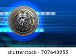 3d illustration of wheel door