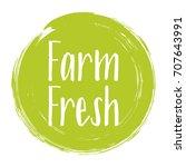 farm fresh label vector ... | Shutterstock .eps vector #707643991