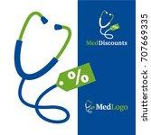 med discounts   vector... | Shutterstock .eps vector #707669335