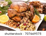 Roasted Turkey With Stuffing...