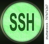 decorative green 3d... | Shutterstock . vector #707671267