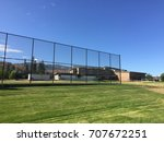 sports field with green grass... | Shutterstock . vector #707672251