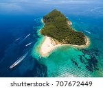aerial view of marathonisi... | Shutterstock . vector #707672449