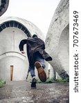 run away hipster dressed like... | Shutterstock . vector #707673469