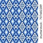 cute rhombus seamless pattern... | Shutterstock .eps vector #707682289