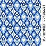 cute rhombus seamless pattern...   Shutterstock .eps vector #707682295