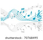 notes with music elements as a... | Shutterstock . vector #70768495