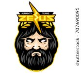 gods of light greece myth head...   Shutterstock .eps vector #707690095