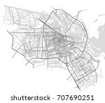vector map of the city of... | Shutterstock .eps vector #707690251
