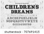 font script typeface... | Shutterstock .eps vector #707691415
