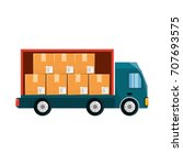 delivery truck vehicle   Shutterstock .eps vector #707693575