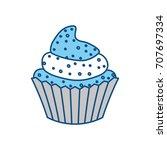 cupcake delicious dessert | Shutterstock .eps vector #707697334