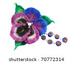 felt of natural wool brooch.... | Shutterstock . vector #70772314