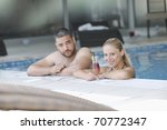 happy young couple on wellness... | Shutterstock . vector #70772347