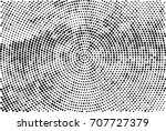 halftone radial black and white.... | Shutterstock . vector #707727379