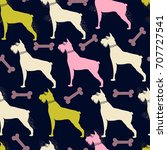 seamless pattern. hand drawn...   Shutterstock .eps vector #707727541