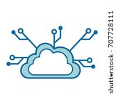cloud computing isolated icon | Shutterstock .eps vector #707728111
