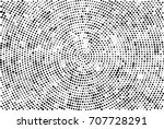 halftone radial black and white.... | Shutterstock . vector #707728291