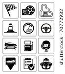 vector racing equipment icons... | Shutterstock .eps vector #70772932