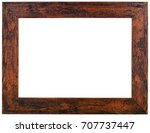old wooden picture frame cutout | Shutterstock . vector #707737447