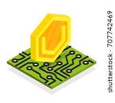 ultimate secure cash... | Shutterstock .eps vector #707742469