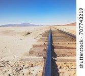 chiguana railway  the...   Shutterstock . vector #707743219