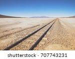 chiguana railway  the...   Shutterstock . vector #707743231