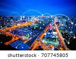 connection concept  image of... | Shutterstock . vector #707745805