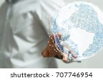 global network | Shutterstock . vector #707746954