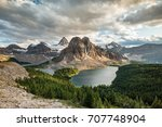 mount assiniboine and sunburst... | Shutterstock . vector #707748904