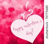 valentine's day card | Shutterstock . vector #70775680