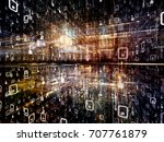 digital city series. abstract... | Shutterstock . vector #707761879