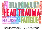head trauma word cloud on a... | Shutterstock .eps vector #707768905