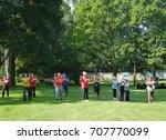 toronto   august 26  2017  tai... | Shutterstock . vector #707770099