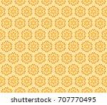 floral geometric line seamless...   Shutterstock . vector #707770495