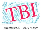 tbi word cloud on a white... | Shutterstock .eps vector #707771509