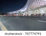 shenzhen baoan airport in... | Shutterstock . vector #707774791