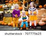 group of little children... | Shutterstock . vector #707775625