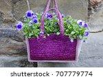 A Straw Handbag Has Been Used...