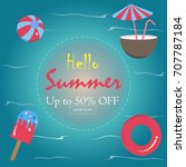 summer vector illustration. up... | Shutterstock .eps vector #707787184
