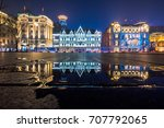 beautiful historic architecture ...   Shutterstock . vector #707792065