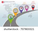 milestone timeline infographic... | Shutterstock .eps vector #707803321