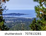 an aerial view of point lobos ... | Shutterstock . vector #707813281