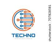 techno   vector logo template... | Shutterstock .eps vector #707828581