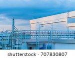 industrial building at twilight ... | Shutterstock . vector #707830807