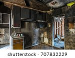 interior of a home damaged by...