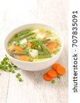 vegetable soup | Shutterstock . vector #707835091