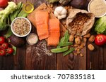 selection of health food | Shutterstock . vector #707835181